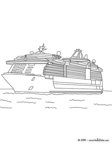 cruise ship coloring pages hellokids com