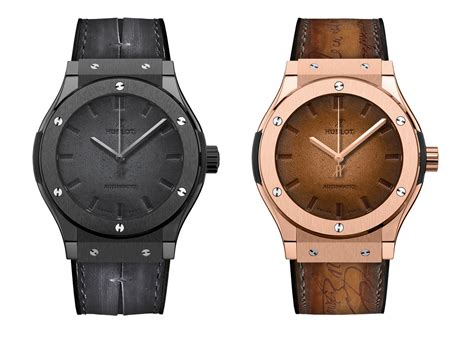 hublot leather hublot introduces the classic fusion berluti with a