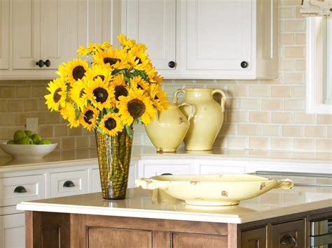 sunflower kitchen decor theme easy low maintenance flower arrangements care tips