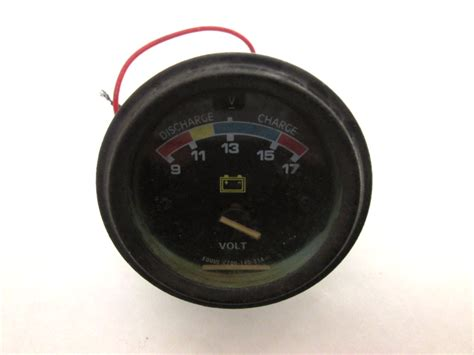 boat volt gauge equus volt gauge for parts freshwater boat marine battery