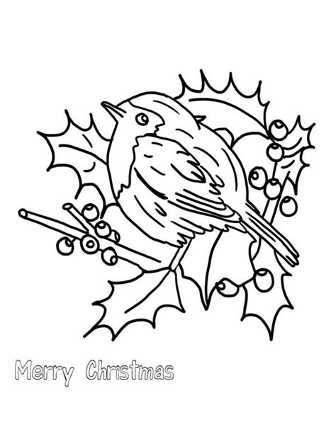 christmas bird coloring page christmas robins free colouring pages