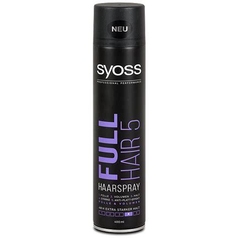 Sho Syoss 400 Ml syoss hair 5 haarspray starker halt