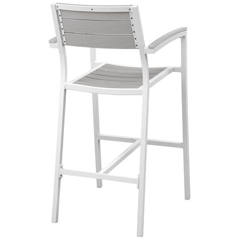 Outdoor Bar Stools White by Murano Modern White Outdoor Bar Stool Eurway Modern