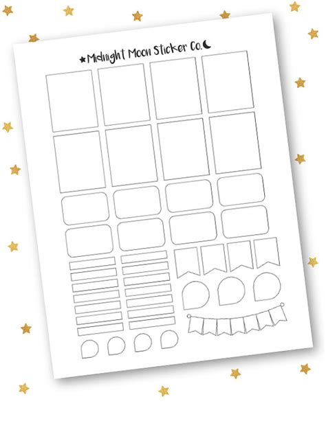 printable planner sticker template mixed template printable template vertical erin condren