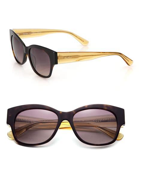 Square Maxmara 5 max mara thickness 53mm square sunglasses in brown lyst