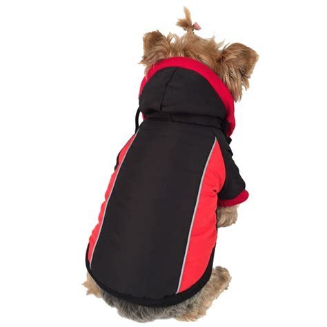 Wal Mart Winter Apparel winter plush hooded pet yorkie clothes