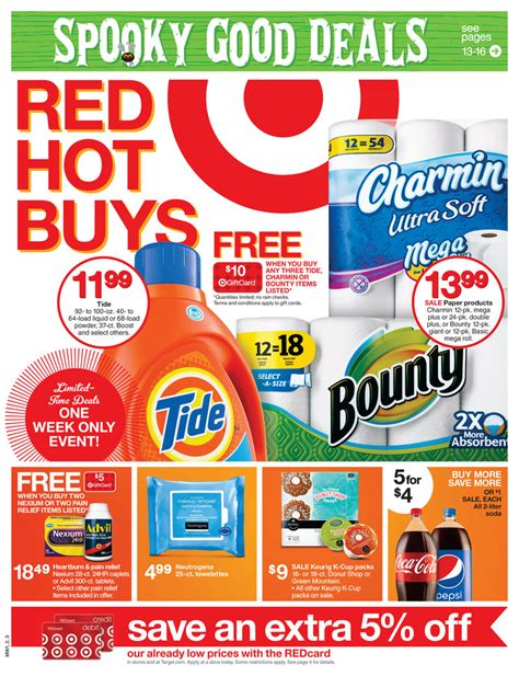 last day target home sale up to 20 off and buy more target ad for 10 12 14 spooky good deals