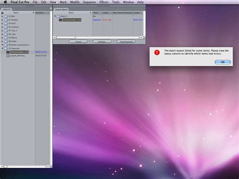 final cut pro not importing final cut pro export error why it occurs machouse blog