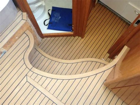 boat interior wood flooring 22 best synthetic teak decking images on pinterest