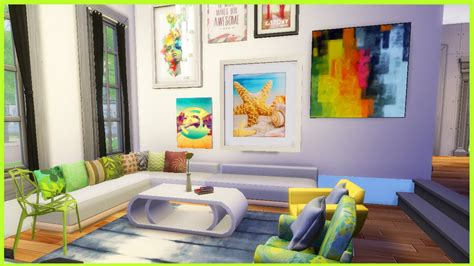 artsy bedroom the sims 4 artsy livingroom cc