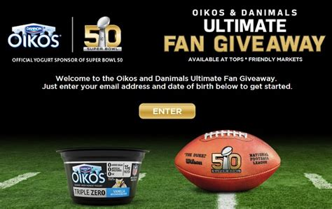 Nfl Sweepstakes - dannon oikos nfl sweepstakes at tops sweepstakesbible