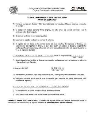 imprimir formato de declaracion patrimonial 2016 calam 233 o formato para declaraci 243 n patrimonial de candidatos