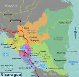 map of nicaragua overview map regions worldofmaps net
