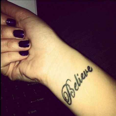 inner wrist tattoo believe wrist tattoos for www pixshark