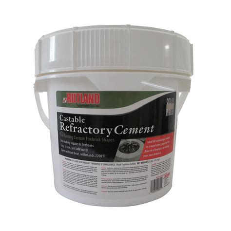 Refractory Bricks Home Depot by Rutland 25 Lbs Castable Refractory Cement Tub 601 The