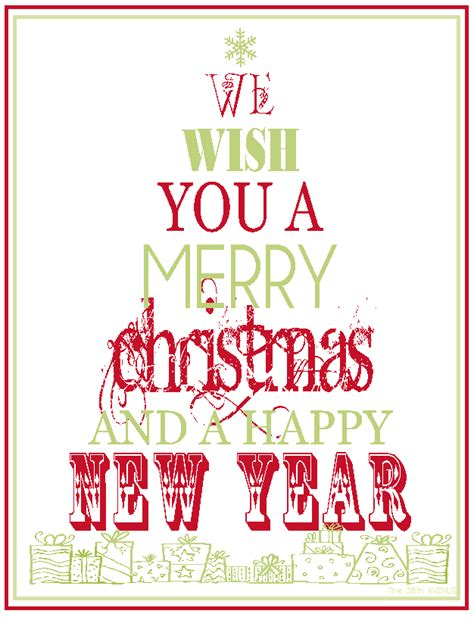 printable christmas signs the 36th avenue free printable merry christmas happy