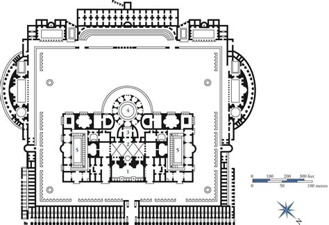 baths of caracalla floor plan front