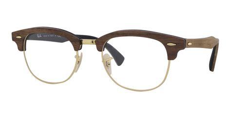 ban rx5154m clubmaster wood eyeglasses free shipping