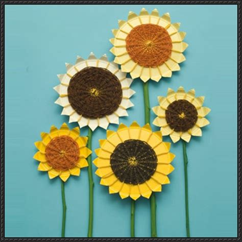Sunflower With Paper - papercraftsquare new paper craft sunflower paper