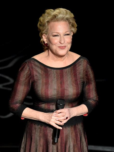 bette midler bette midler idina menzel perform pooly at the oscars
