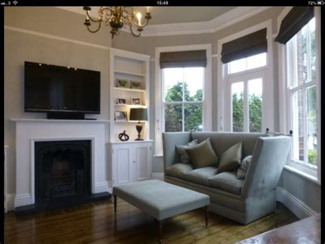 grey blinds  modern victorian lounge decorating ideas