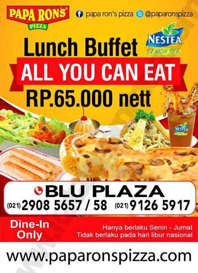 Papa Ron S Pizza Lunch Buffet All You Can Eat Cuma Rp 65 All You Can Eat Lunch Buffet