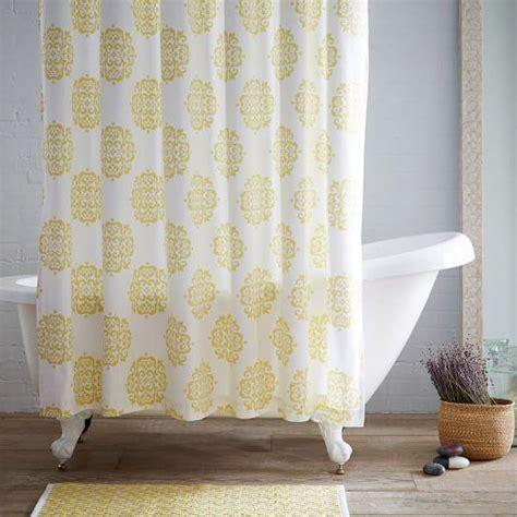 west elm medallion shower curtain scroll medallion shower curtain citron i west elm