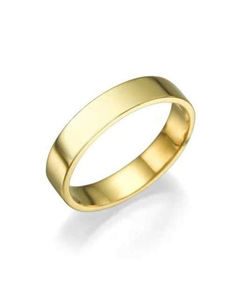 Wedding Ring Flat Design by Yellow Gold Wedding Ring 3 9mm Flat Design By Shiree
