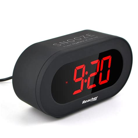 reacher easy snooze time set digital alarm clock charging station phone charger with dual usb