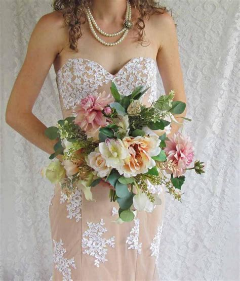 ready made bridal bouquets soft pink bridal bouquet with roses and dahlias