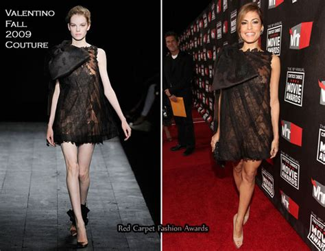 Catwalk To Carpet Mendes by Mendes In Valentino Couture 2011 Critics Choice