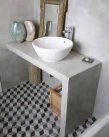 Charmant Peindre Carreaux Salle De Bain #4: deco-salle-de-bain-grise-avec-carreaux-de-ciment.jpg