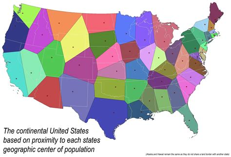 view map of the united states maptitude a voronoi map of the united states by each