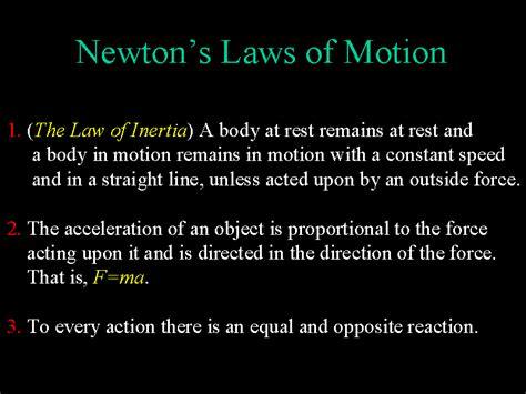 isaac newton biography three laws motion bob gardner s quot relativity and black holes quot classical mechanics