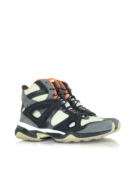 mcqueen mens sneakers mcqueen x white orange and black mcq run