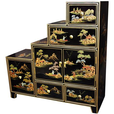 japanese black lacquer cabinet bayview storage console bp bay17 ym19 the home depot