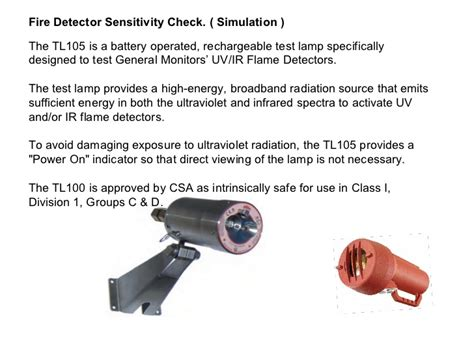 uv ir flame detector test l general monitors flame detectors scp