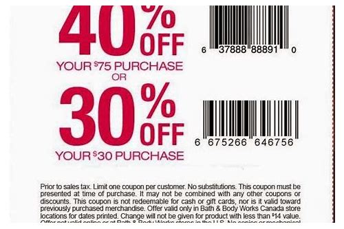 coupons in store for bath and body works