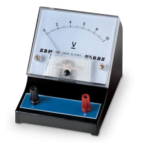 Dc Voltmeter nasco student meter range 0 10v single scale with dc