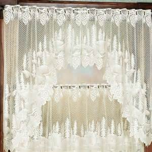 pine cone valances pine cone lace tier window treatment