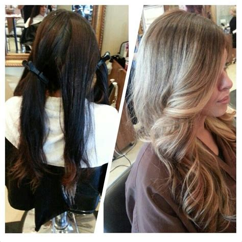 black hair to blonde hair transformations 63 best images about coupe avant apr 232 s relooking on