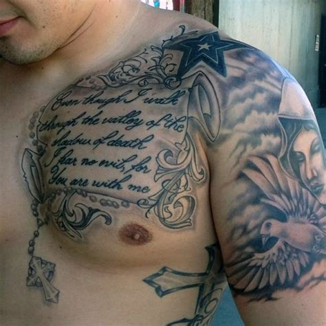 tattoo on upper chest man with bible verses tattoos on upper chest inspiration