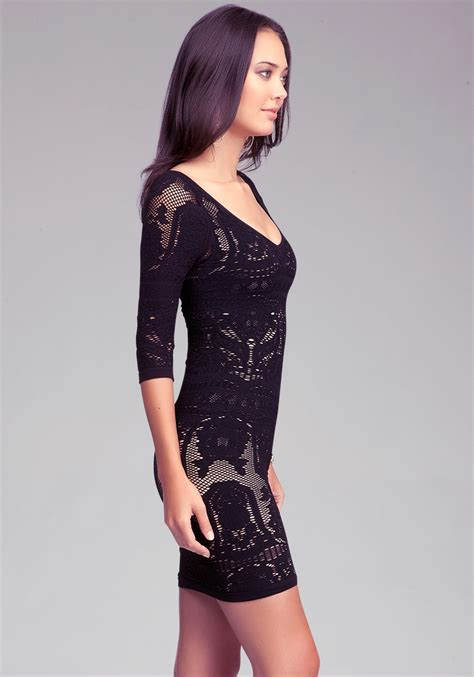 Bebeo More Beautiful Clothes From by Bebe Lace Drama Bodycon Dress In Black Lyst