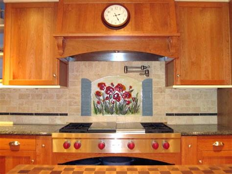 Kaos Orange Country H stained glass backsplash home improvement area