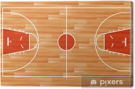 quadro su tela legno campo da basket parquet vettore