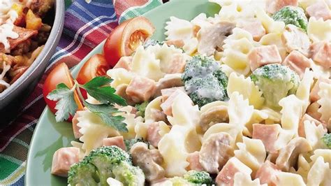 bow tie pasta with broccoli and ham recipe from