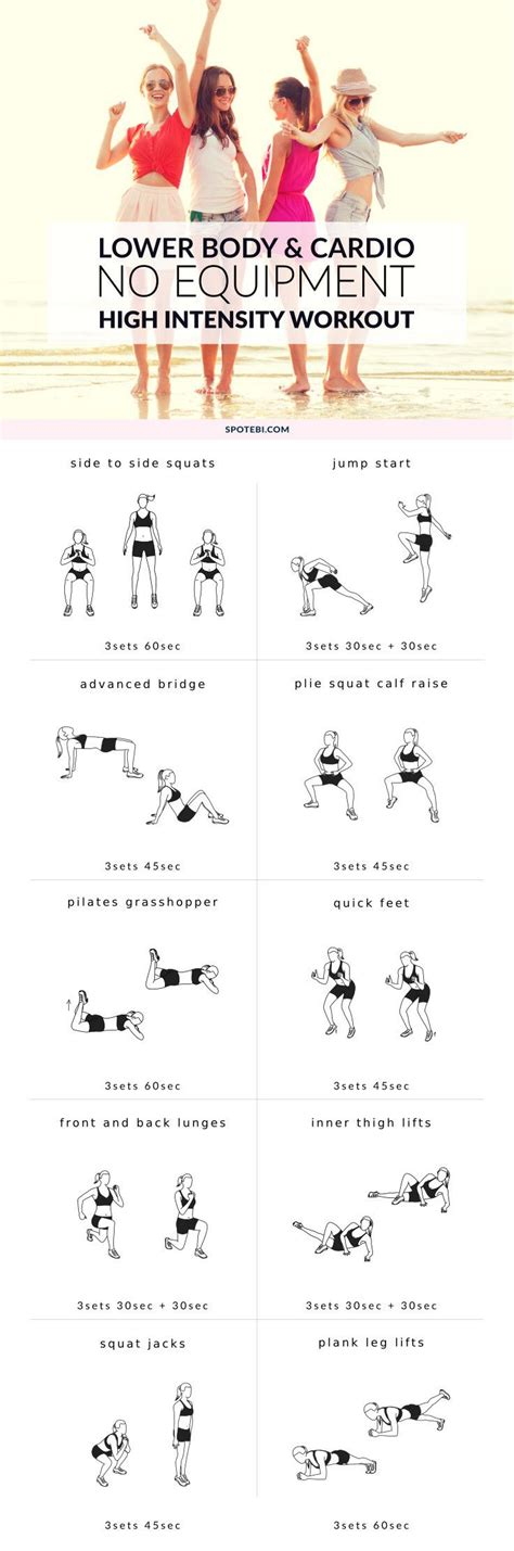 high intensity no equipment workout glutes legs