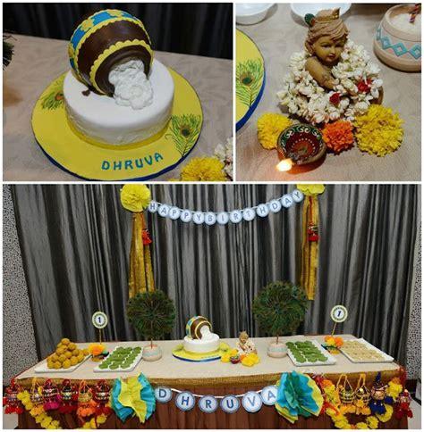 krishna birthday themes bringing on the 30s little krishna themed first birthday