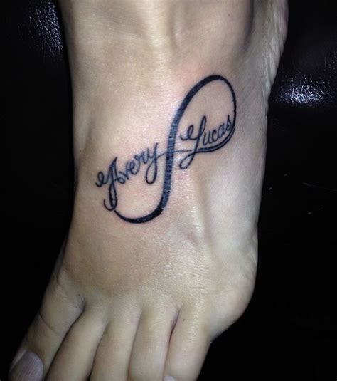 infinity symbol tattoos with names best 25 infinity with names ideas only on