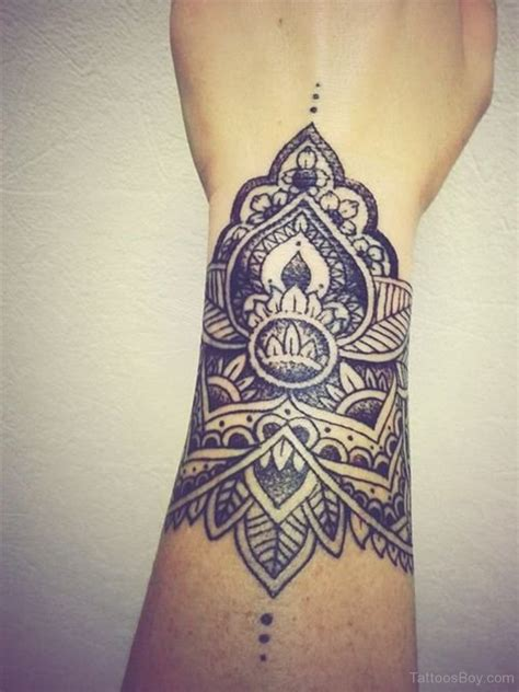 mandala tattoo on wrist 34 awesome wrist flower tattoos